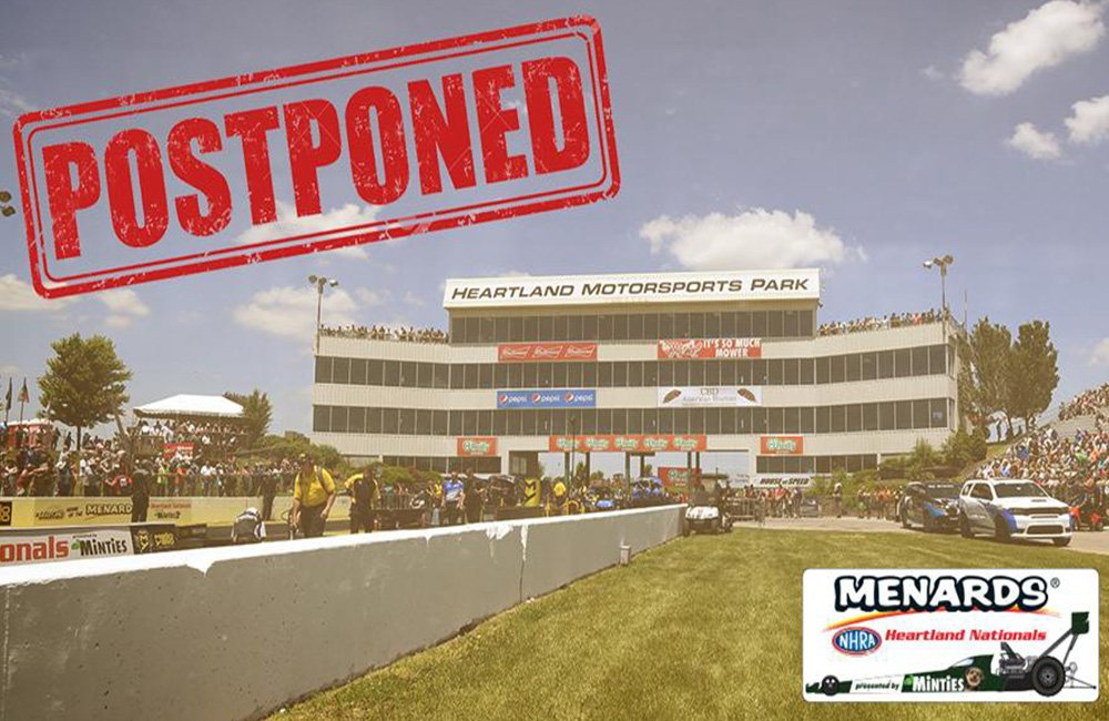 Menards NHRA Heartland Nationals postponed until Fall due to county restrictions