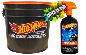 You can WIN a Hot Wheels Car Care Products bucket gift pack WORTH $150!!